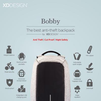 Chả lo mất trộm hay hết pin với chiếc balo toàn năng Bobby